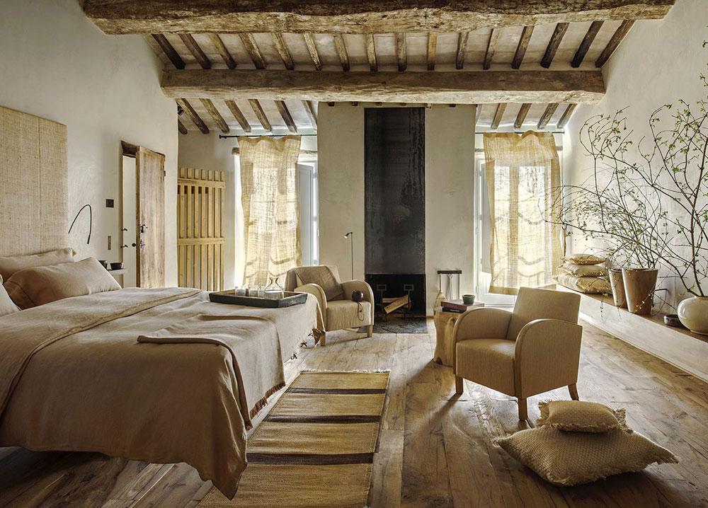 grinzi de lemn in dormitor
