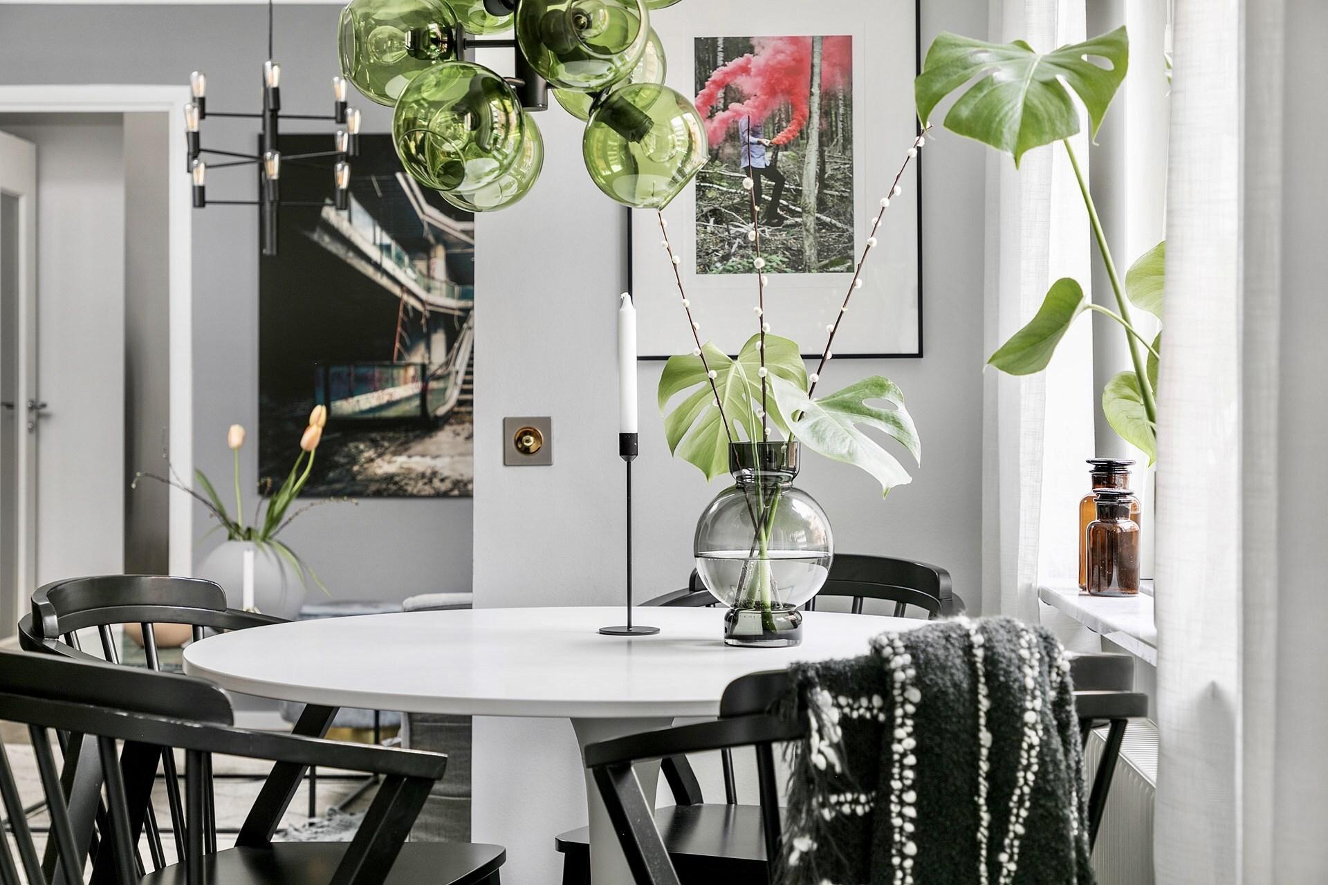 Roz, verde, gri și negru în amenajarea elegantă a unui apartament de 44 m² 7