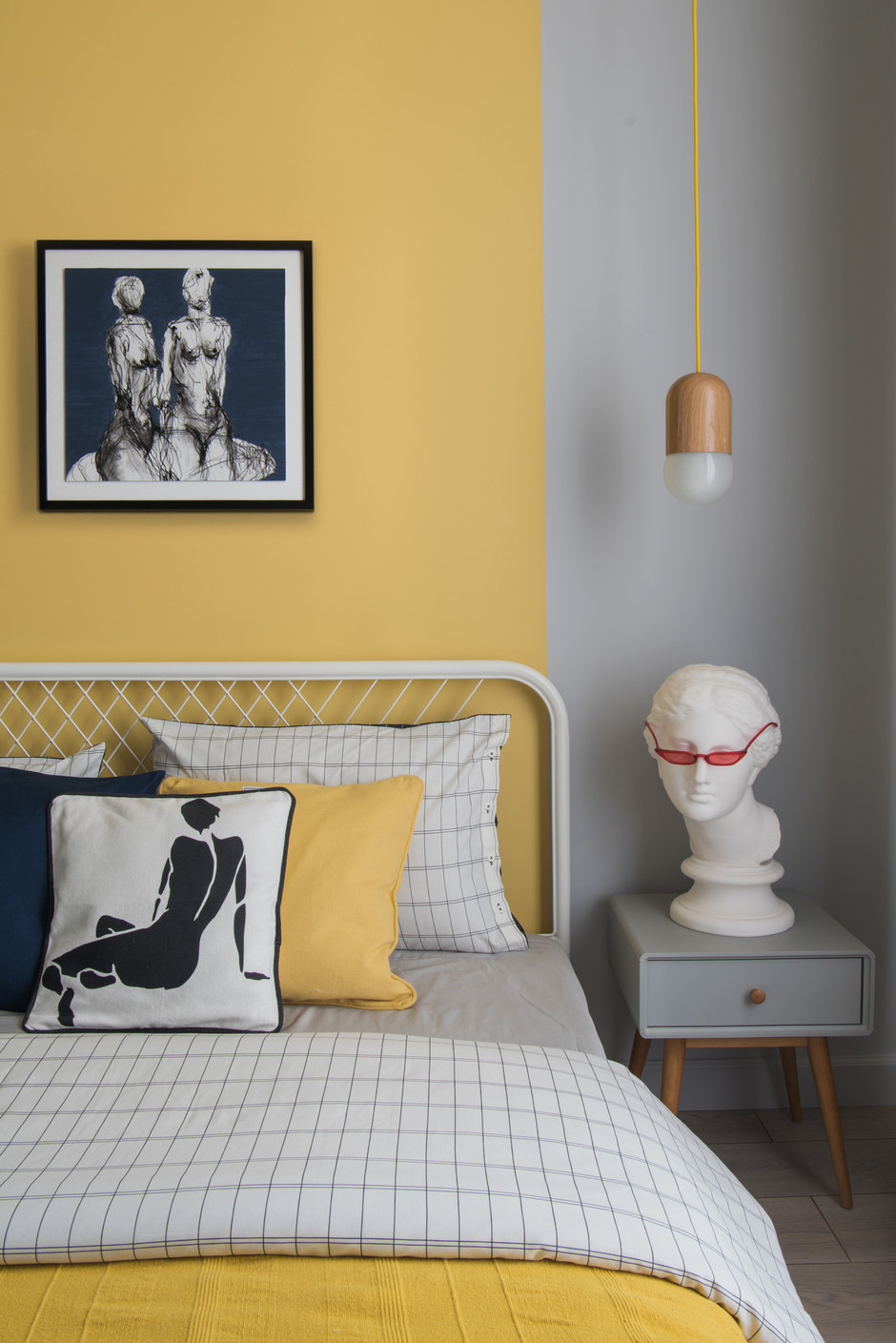 dormitor cu galben