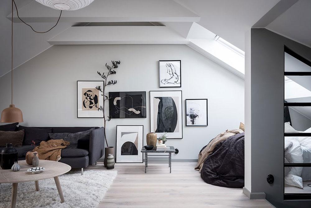 Idee practică de amenajare a unei mansarde de 35 m² 1