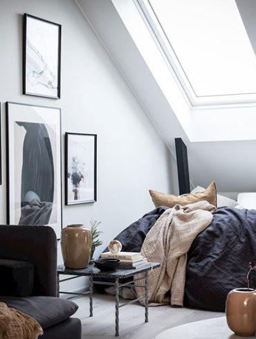 dormitor la mansarda