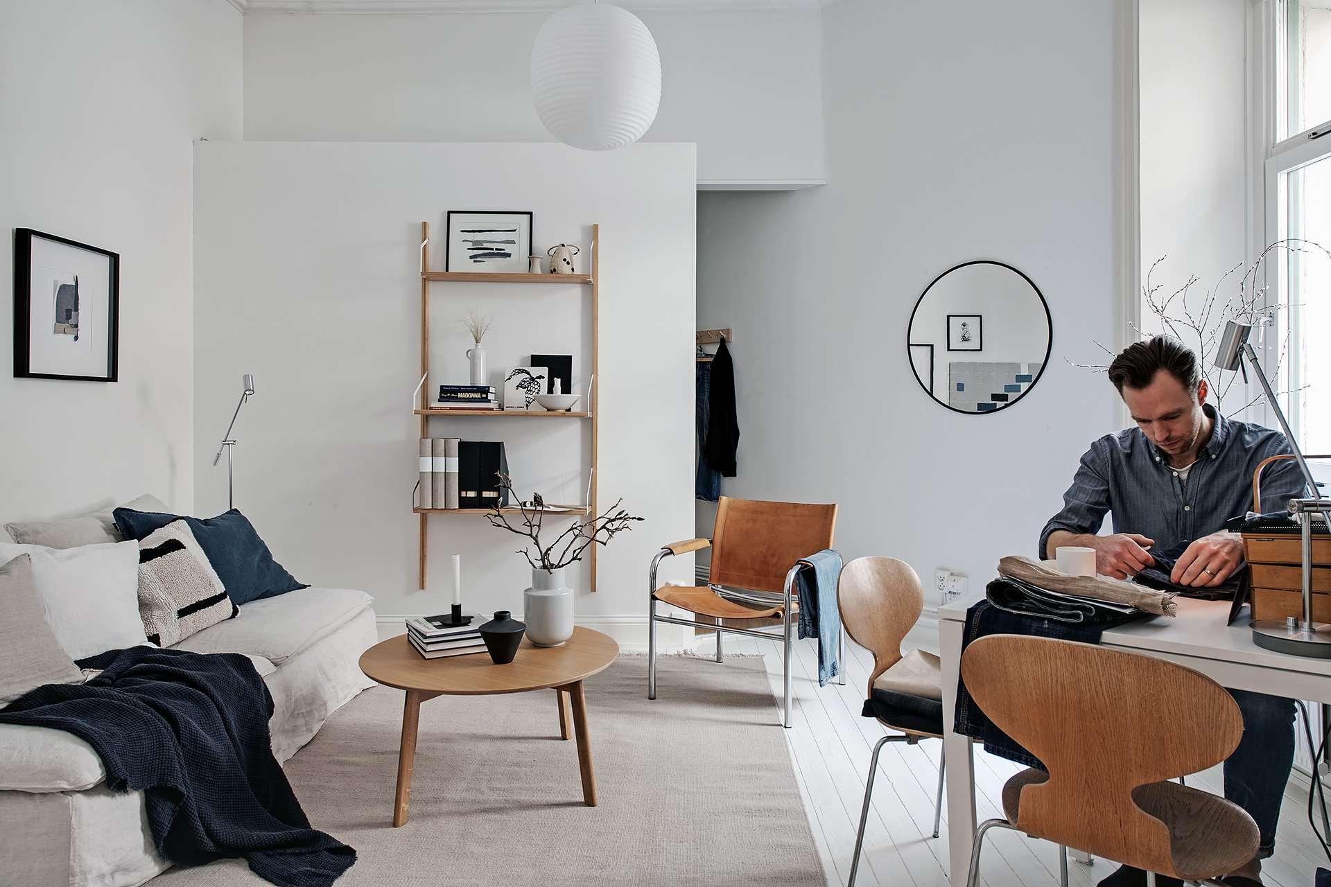 Perete de rigips între dormitor și living într-o garsonieră de 35 m² 3