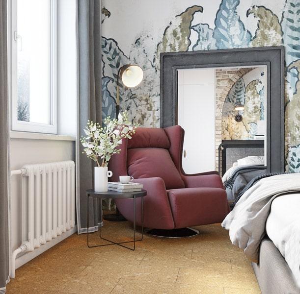 Proiect de amenajare pentru un apartament în stil industrial din Kiev 15