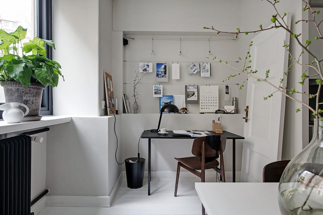 birou in bucatarie