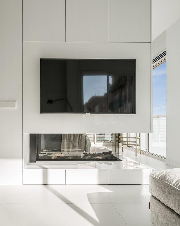 Amenajare ultra minimalistă living
