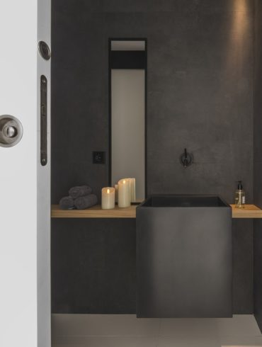 Amenajare ultra minimalistă baie