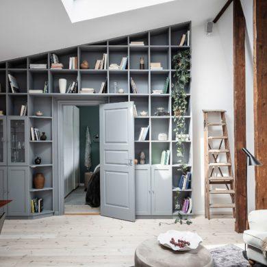 Bibliotecă în loc de perete