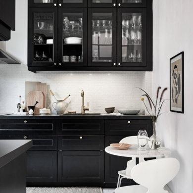 Bucătărie și baie negre