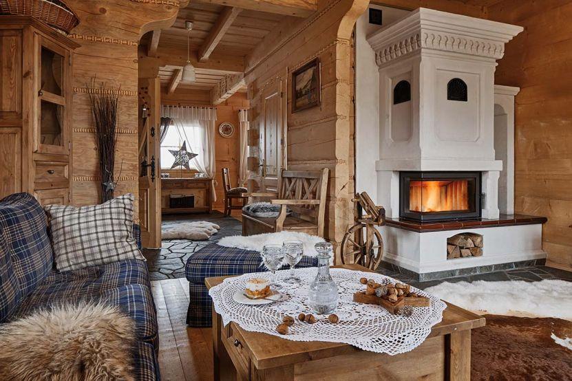 cabană de lemn