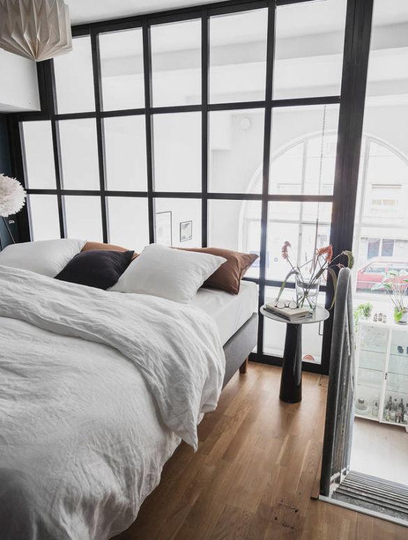 Dormitor la mezanin