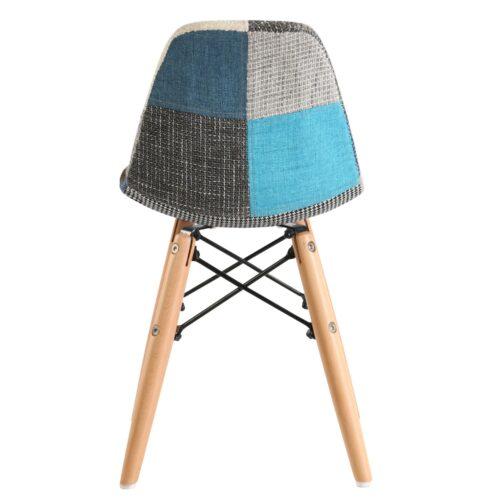 Scaun cu model gri si albastru