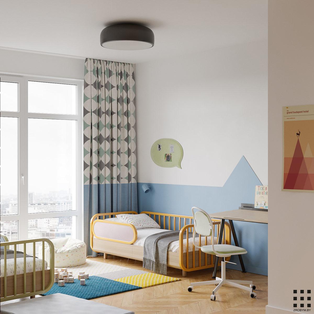 camera copii in stil modernist