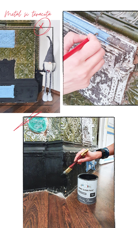 Annie Sloan Chalk Paint metal si teracota