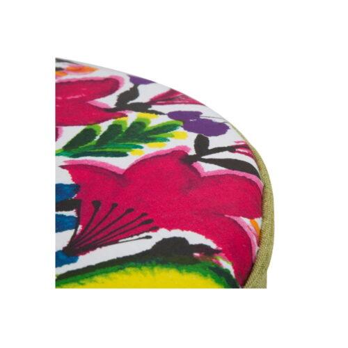taburet cu flori colorate