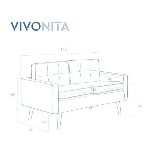 Canapea violet cu 2 locuri 8