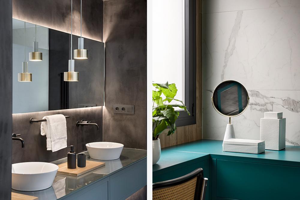 Pereți mobilier și uși negre într un apartament din Barcelona 24