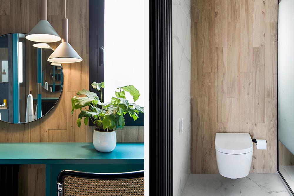 Pereți mobilier și uși negre într un apartament din Barcelona 25