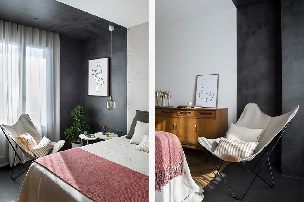Pereți mobilier și uși negre într un apartament din Barcelona 30