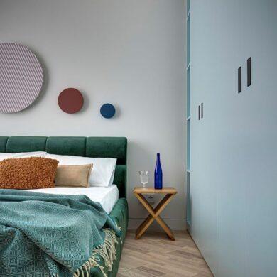 Draperie între living și dormitor