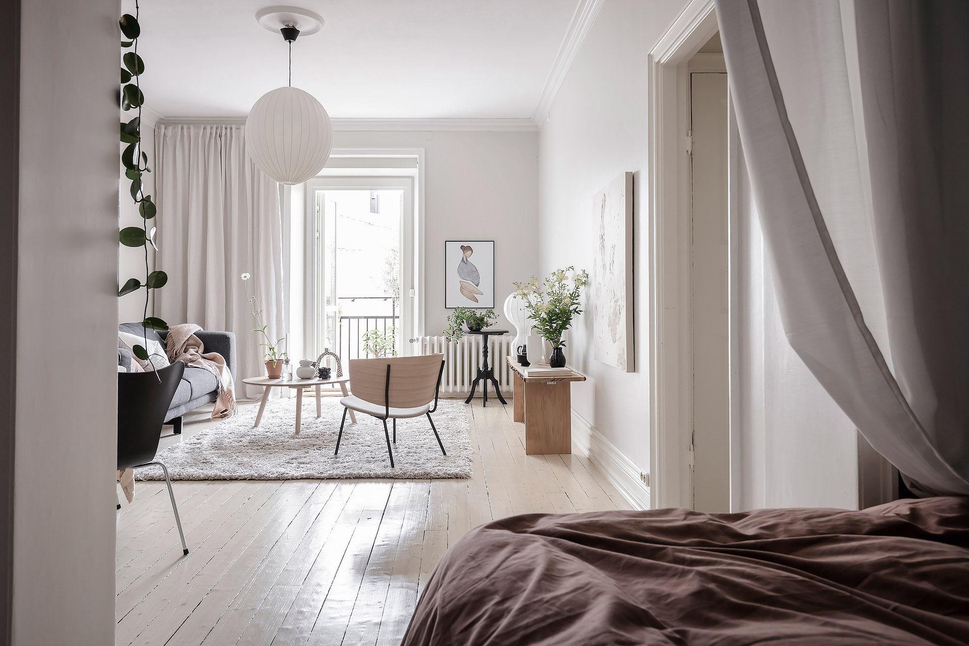 Cromatică relaxantă și decor scandinav într un apartament de 50 m² 17