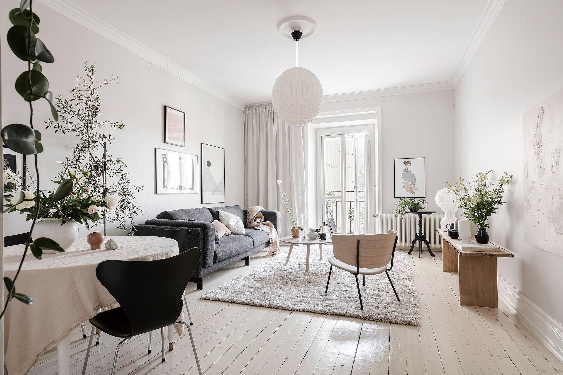 Cromatică relaxantă și decor scandinav într un apartament de 50 m² 2