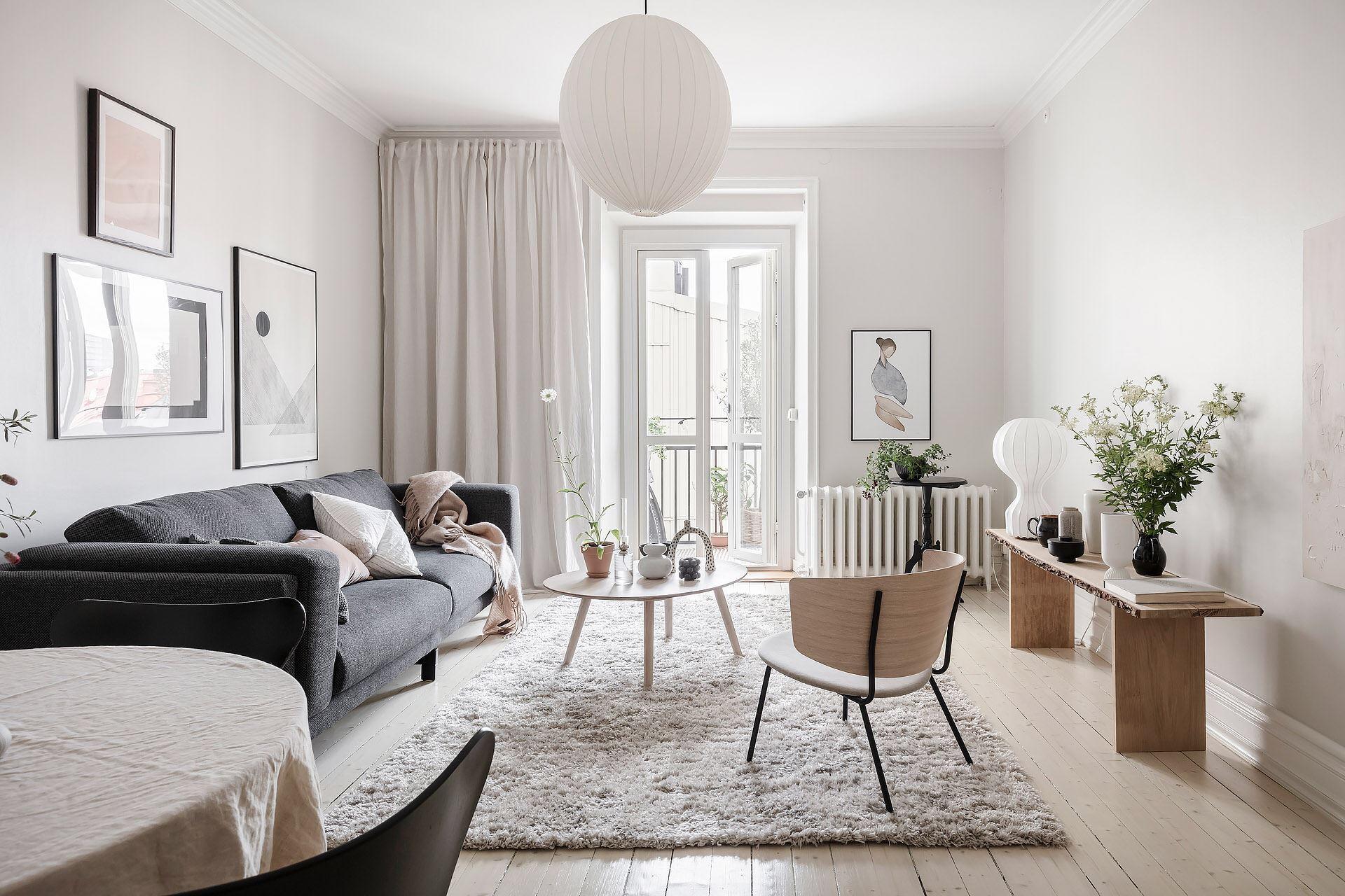 Cromatică relaxantă și decor scandinav într un apartament de 50 m² 6