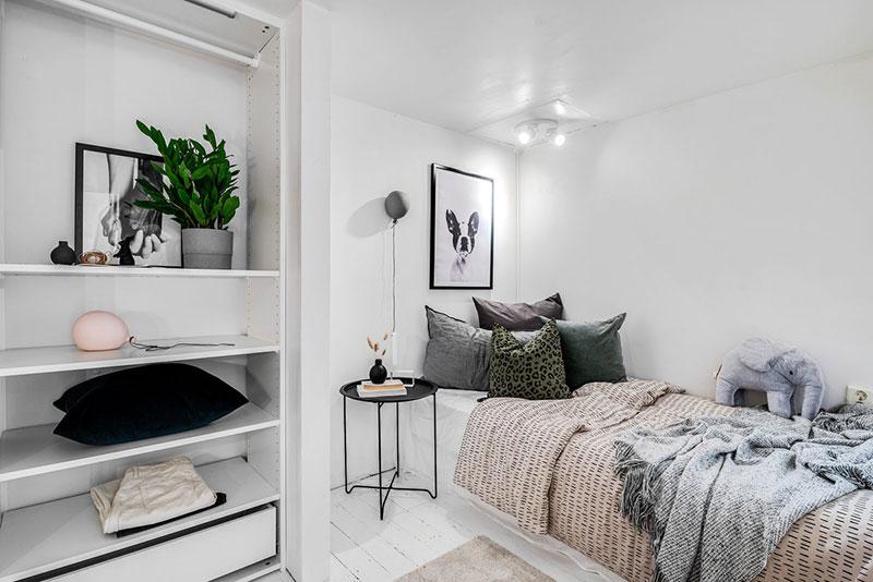Două dormitoare la mezanin într un apartament de 55 m² 11