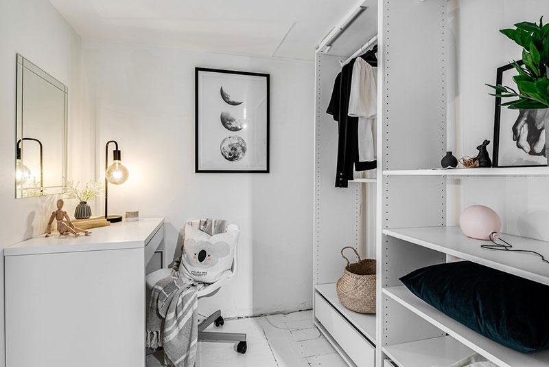 Două dormitoare la mezanin într un apartament de 55 m² 12