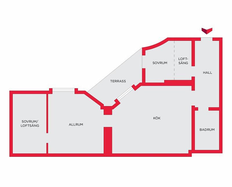Două dormitoare la mezanin într un apartament de 55 m² 15