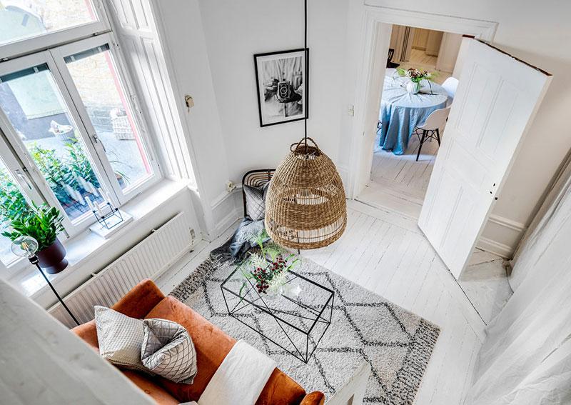 Două dormitoare la mezanin într un apartament de 55 m² 2