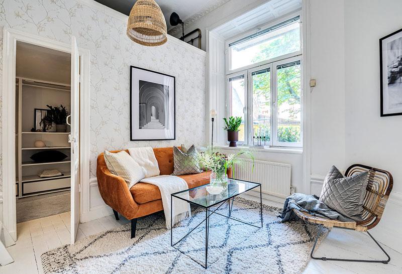 Două dormitoare la mezanin într un apartament de 55 m² 3