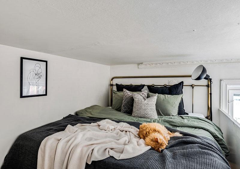Două dormitoare la mezanin într un apartament de 55 m² 4