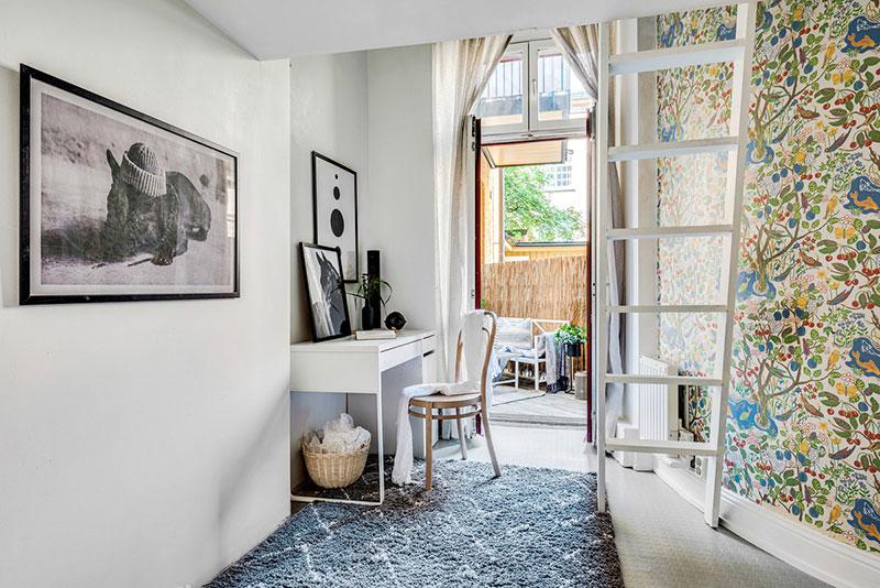 Două dormitoare la mezanin într un apartament de 55 m² 5