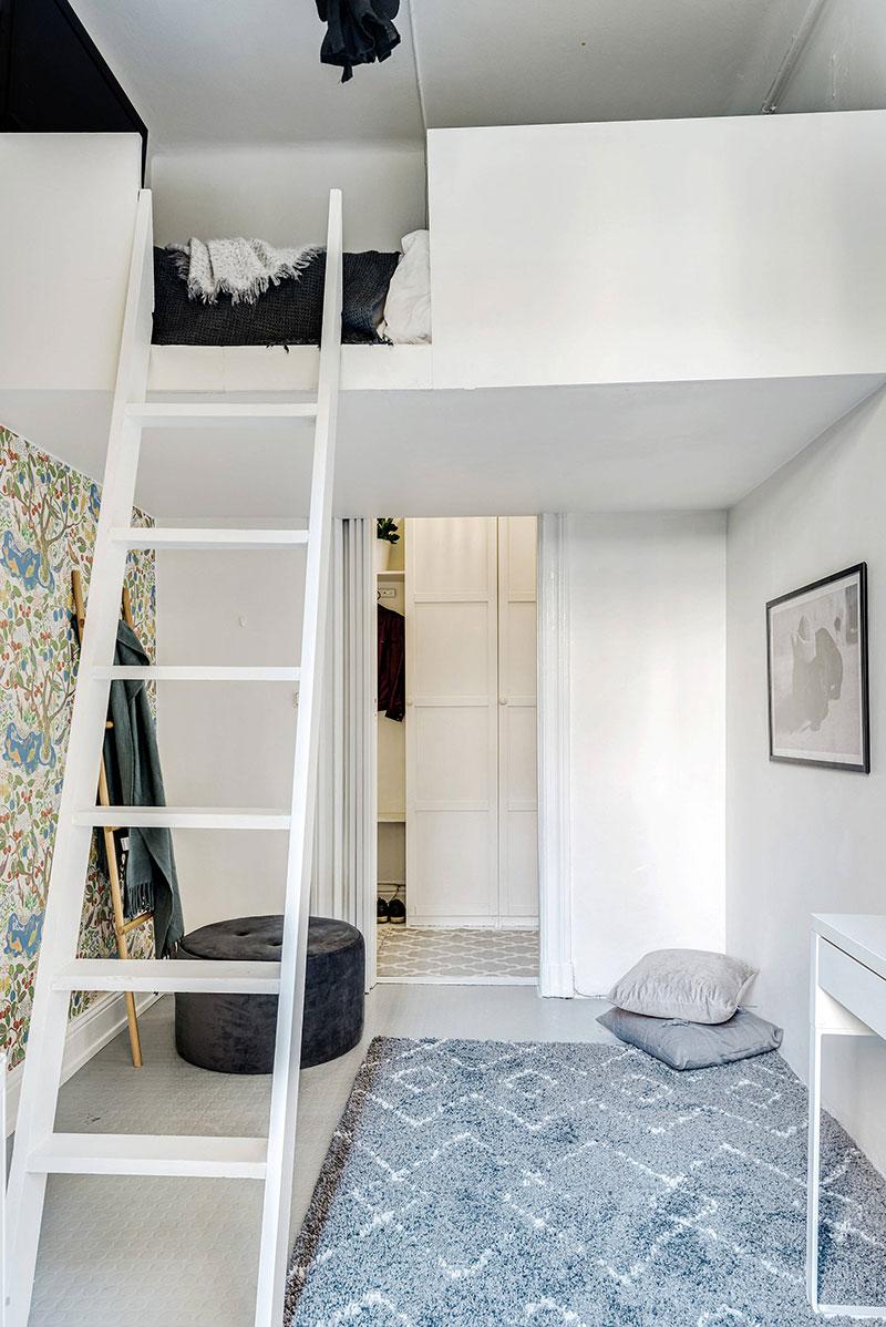 Două dormitoare la mezanin într un apartament de 55 m² 6