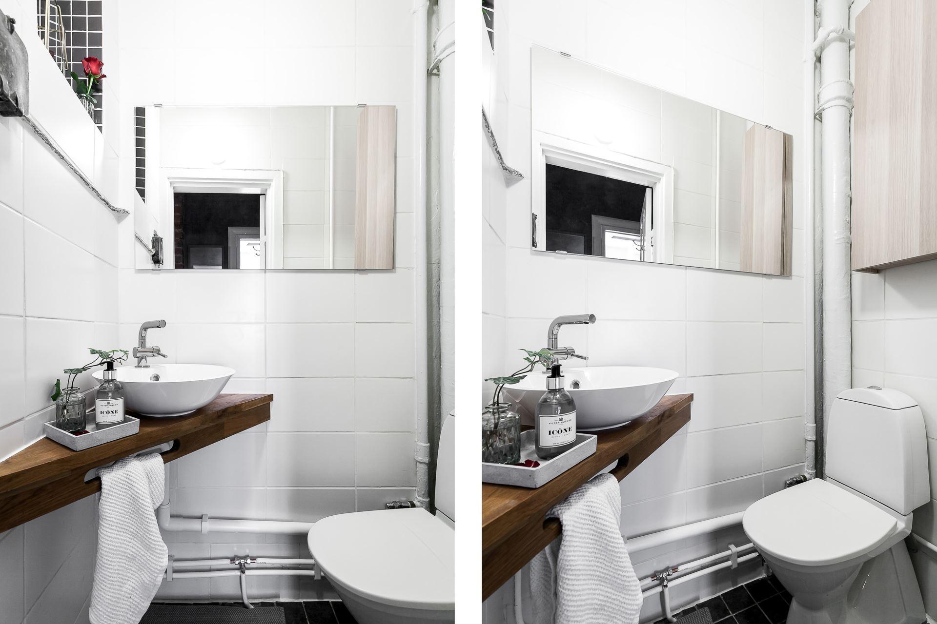 Perete de sticlă și cărămidă expusă în dormitor într o garsonieră de 44 m² 17