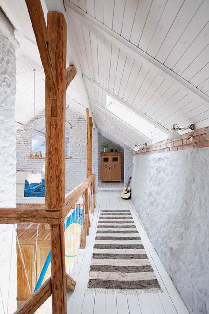 Decor rustic boem și colorat într o casă din Ełk Polonia 8