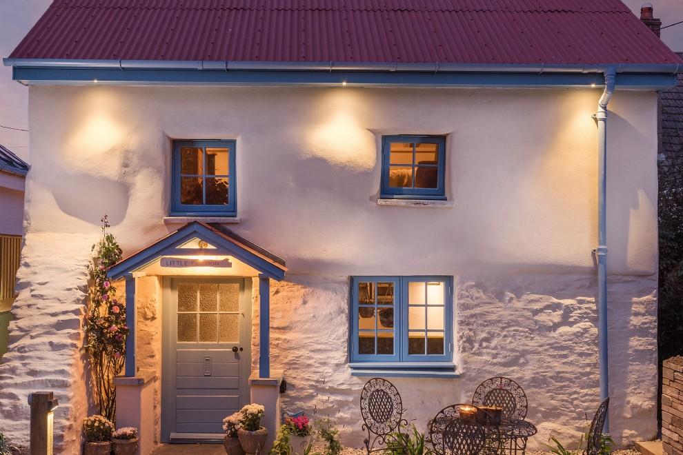 Decor rustic cu accente vintage într o casă de vacanță din Cornwall UK 11
