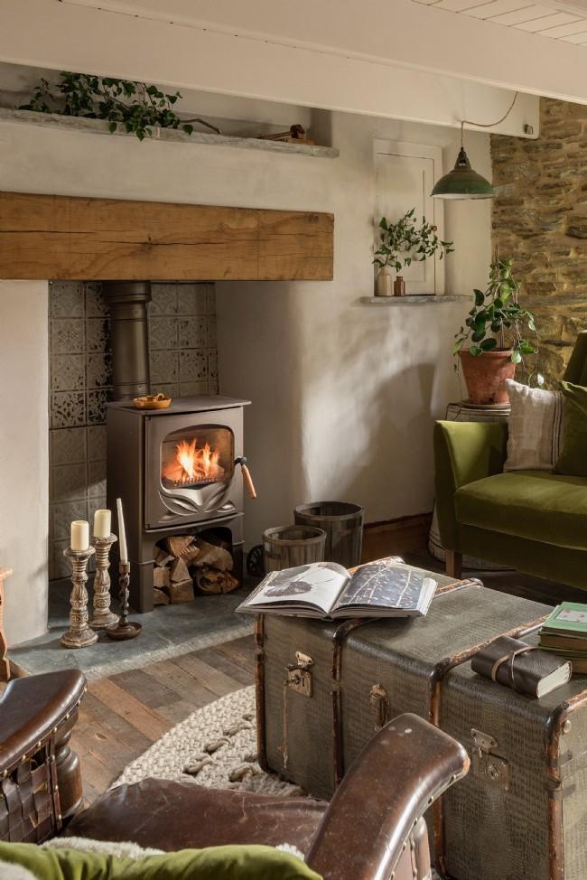 Decor rustic cu accente vintage într o casă de vacanță din Cornwall UK 2