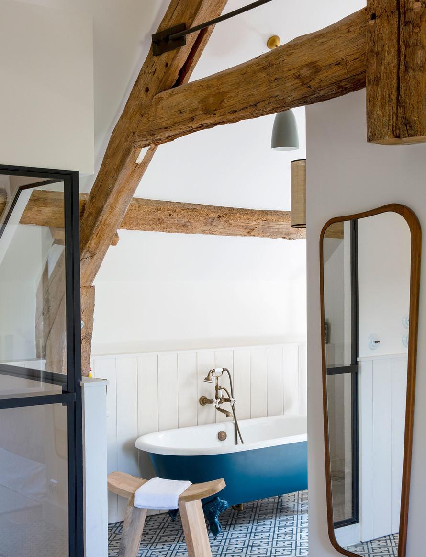 Amenajare și decor rustic într o casă construită nou construită 2