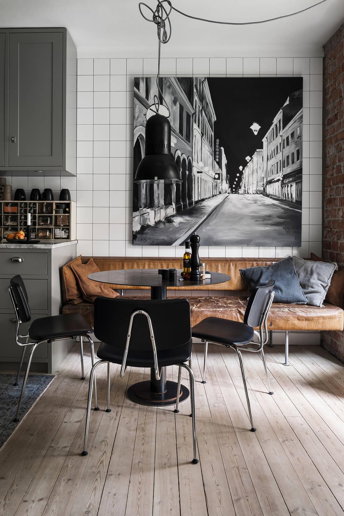 Detalii industriale și decor masculin într un apartament de 80 m² 3