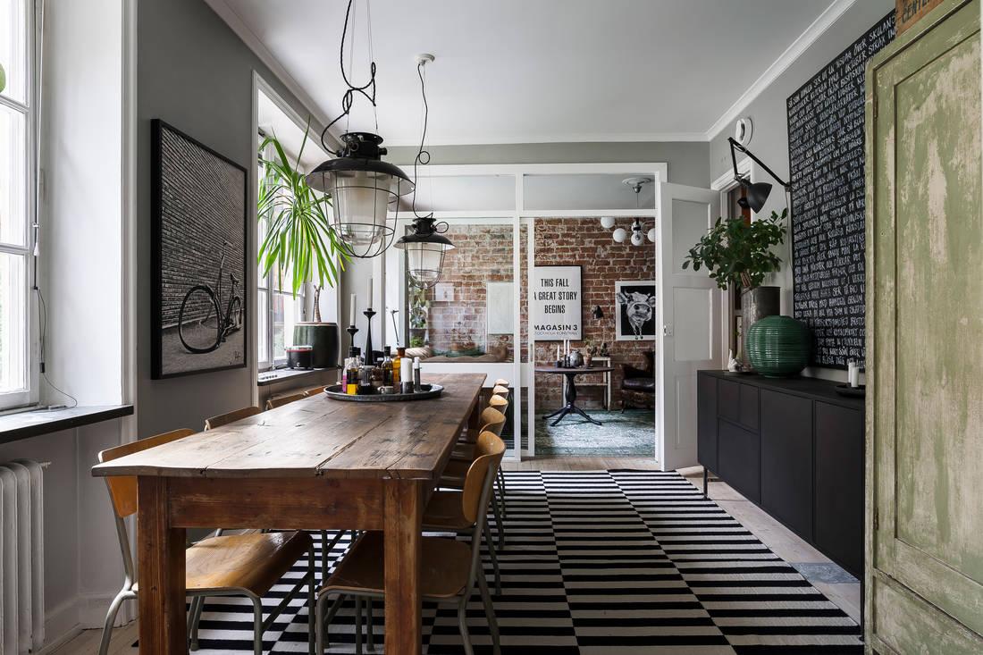 Detalii industriale și decor masculin într un apartament de 80 m² 4