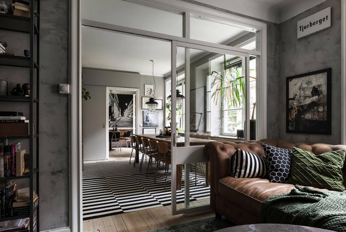 Detalii industriale și decor masculin într un apartament de 80 m² 6