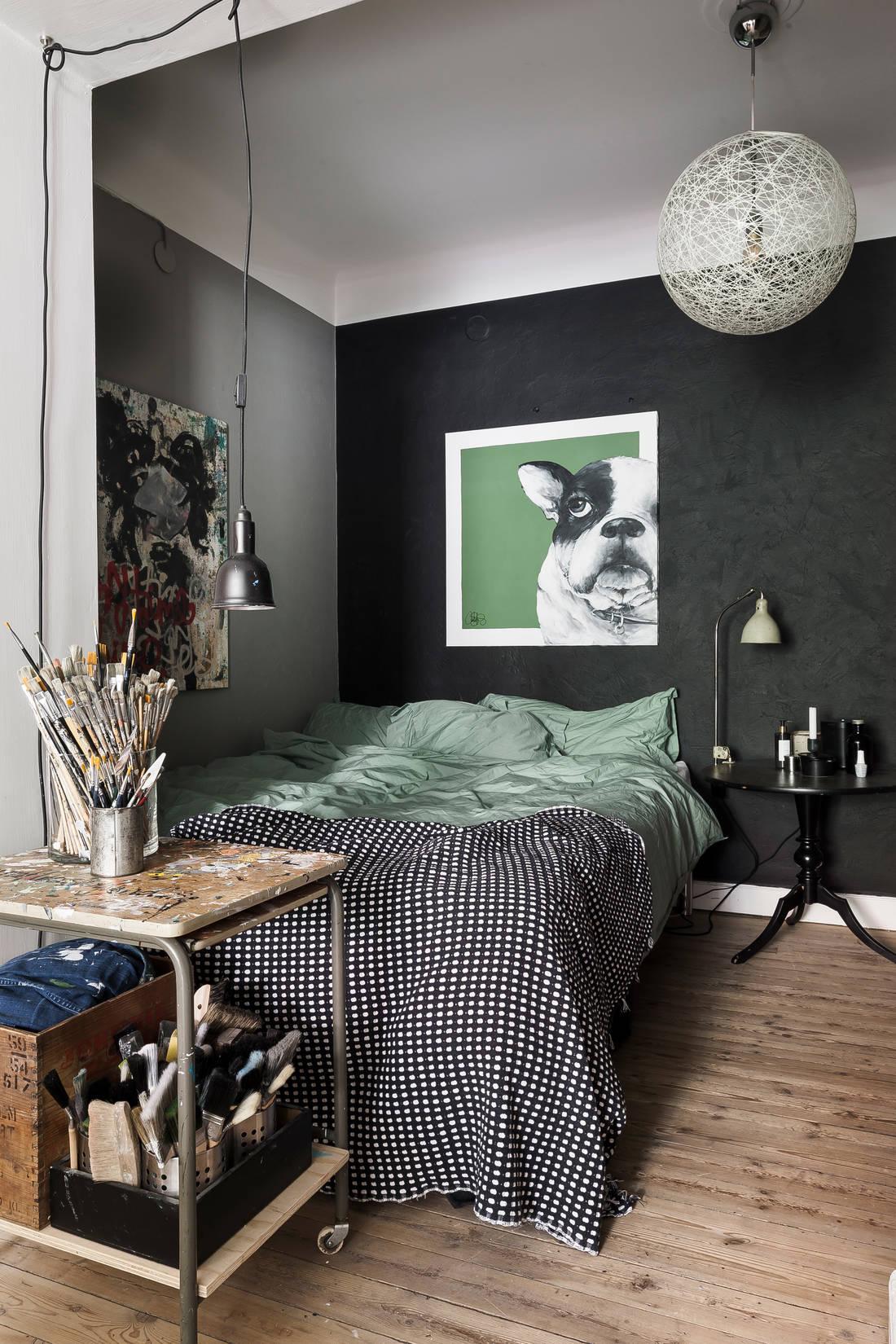 Detalii industriale și decor masculin într un apartament de 80 m² 8