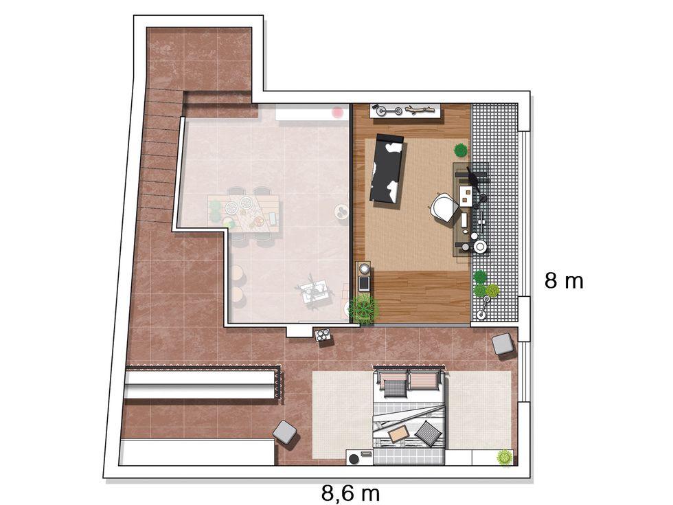 Decor de Crăciun într un apartament pe două niveluri din Madrid 19