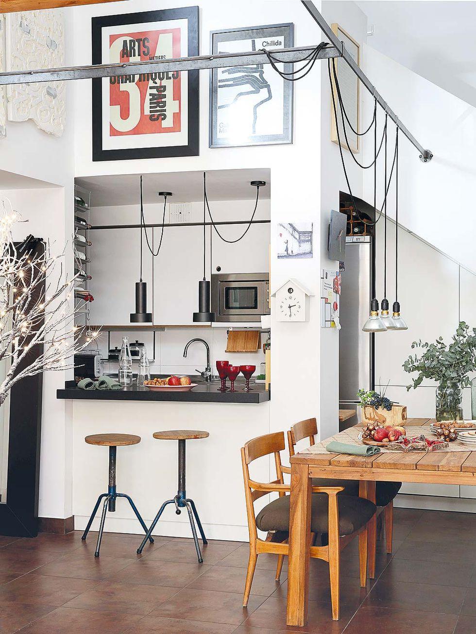 Decor de Crăciun într un apartament pe două niveluri din Madrid 9
