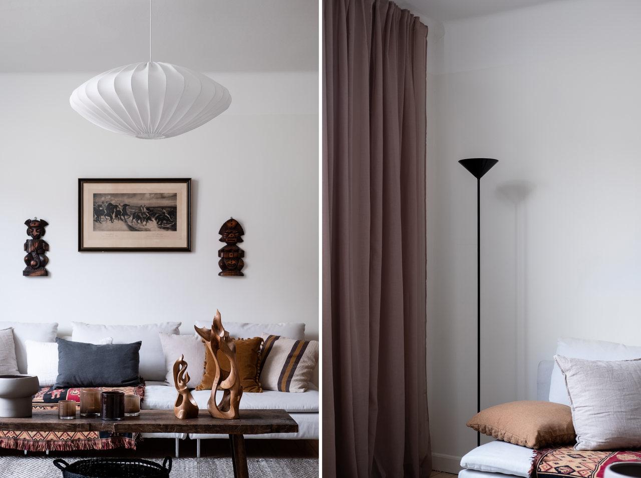 Motive etnice și accente calde de culoare într un apartament de 76 m² 3